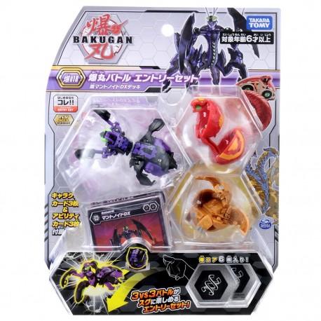 Bakugan Battle Planet 018 Starter Set Vol 2 (Mantis Black DX, Cobra Red, Double Headed Dragon Gold)