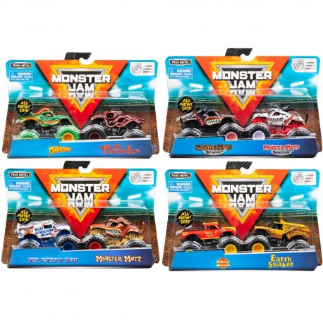 Monster Jam 1:64 2 Packs - Double Down Showdown Asst