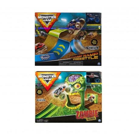 Monster Jam 1:64 Basic Stunt Playsets Asst