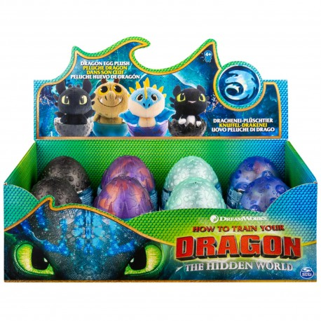 How to Train Your Dragon 3 Plush Dragon Eggs Asst