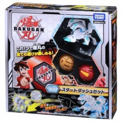 Bakugan Battle Planet 008 Card Game Starter Set (Howlkor Black DX, Dragonoid Red, Pegatrix Gold)